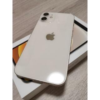 アイフォーン(iPhone)のiphone 12 mini 128GB ホワイト SIMフリー ケース付き(スマートフォン本体)