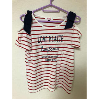 ピンクラテ(PINK-latte)のオフィショル Tシャツ(Tシャツ(半袖/袖なし))
