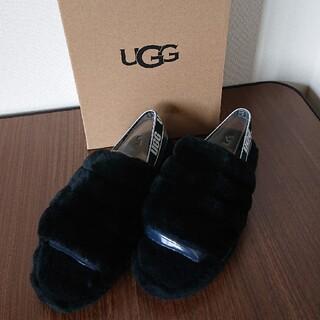 UGG - UGG フラッフイヤー スライド ブラック 23.5センチ