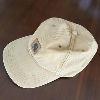 カーハート(carhartt)の人気♪♪カーハート*キャップ帽子*レザーロゴ*ベージュ(キャップ)