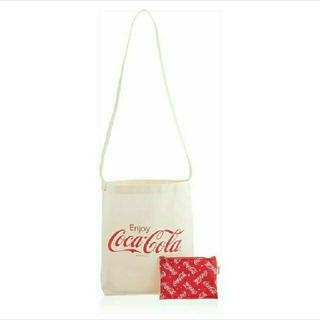 コカコーラ(コカ・コーラ)のコカ・コーラ 斜めがけロゴトートバッグ&総柄ポーチ(トートバッグ)