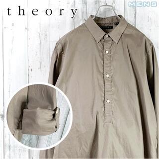 セオリー(theory)のtheory ストレッチリネン長袖シャツプルオーバー L スリーピングシャツ(シャツ)