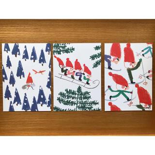 marimekko - ケフボラデザイン マリカ・マイヤラ★ サンタクロースのポストカード3枚セット