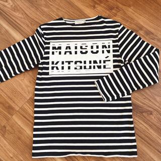 メゾンキツネ(MAISON KITSUNE')のMAISON KITSUNE🦊 ボーダーカットソー(Tシャツ/カットソー(七分/長袖))