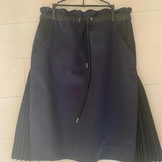 サカイ(sacai)のsacai サイドプリーツスカート(ひざ丈スカート)
