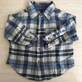 ベビーギャップ(babyGAP)のbaby GAP 80 シャツ 男の子 長袖 12-18か月(シャツ/カットソー)