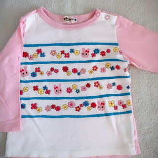 ホットビスケッツ(HOT BISCUITS)の90サイズ ロンT 美品 ミキハウス(Tシャツ/カットソー)