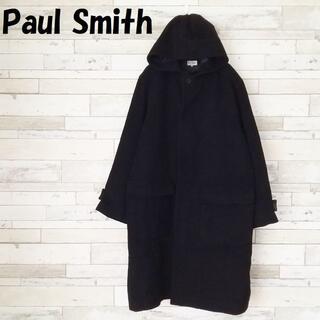 ポールスミス(Paul Smith)の【人気】ポールスミス アンゴラ混コート 比翼 フード付 ブラック サイズM(その他)