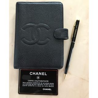 CHANEL - ♦︎CHANEL 手帳カバー♦︎キャビアスキン♦︎ボールペンセット
