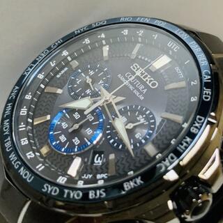 セイコー(SEIKO)の最高級セイコー コーチュラ 電波ソーラー SEIKO クロノグラフ メンズ腕時計(腕時計(デジタル))
