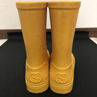 グッチ(Gucci)のGUCCI レインブーツ 16cm  黄色(長靴/レインシューズ)