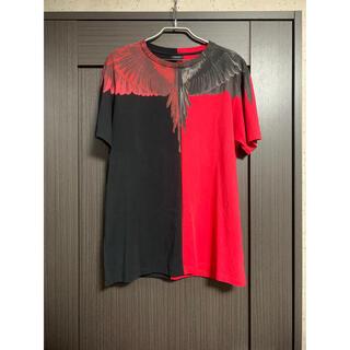 マルセロブロン(MARCELO BURLON)のMarcelo Burlon Tシャツ 赤黒(Tシャツ/カットソー(半袖/袖なし))