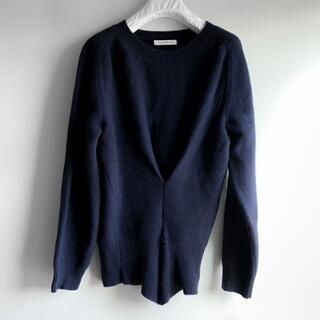 マルタンマルジェラ(Maison Martin Margiela)のJ.W.ANDERSON 変形ニット セーター ネイビーM(ニット/セーター)