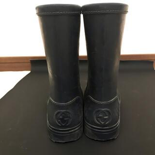 グッチ(Gucci)のGUCCI  レインブーツ 16.5〜17cm ネイビー(長靴/レインシューズ)
