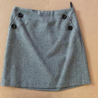 インディヴィ(INDIVI)のINDIVI  インディヴィ レディース 膝丈スカート 36 グレー  S(ひざ丈スカート)