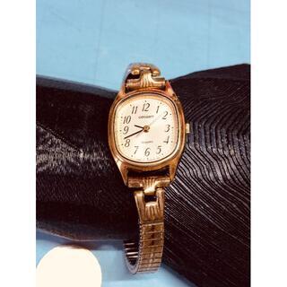 オリエント(ORIENT)のY24)気品の(*'▽')オリエント・GPゴールドメッキ電池交換済みレディース(腕時計)