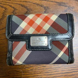 バーバリーブルーレーベル(BURBERRY BLUE LABEL)のバーバーリー 二つ折り財布(財布)