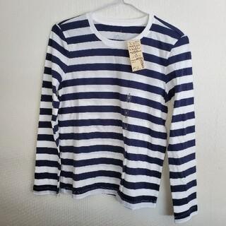 MUJI (無印良品) - 【1666】MUJI◇無印良品◇クルーネック長袖Tシャツ ボーダー