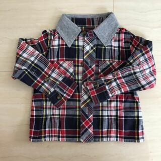 Amabile アマビーレ 80 シャツ 長袖 男の子 新幹線 電車(Tシャツ)