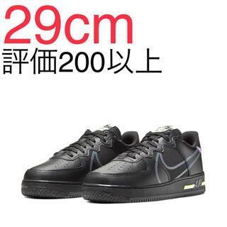 ナイキ(NIKE)のNike Air Force 1 React Black 29cm(スニーカー)
