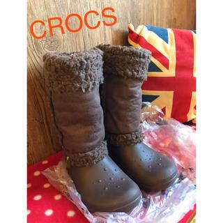 クロックス(crocs)のCROCS  クロックス★ブーツ ブラウン モコモコ(ブーツ)