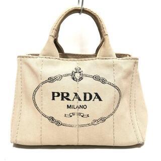 プラダ(PRADA)のプラダ トートバッグ CANAPA ベージュ×黒(トートバッグ)