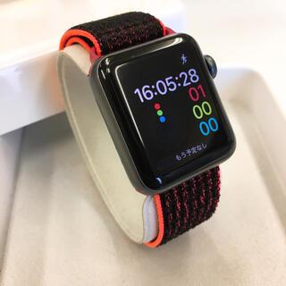 アップルウォッチ(Apple Watch)のApple Watch シリーズ3 GPSモデル 38mm アップルウォッチ 黒(その他)