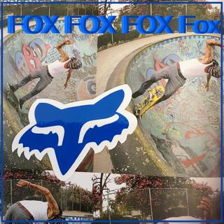 FOXフォックス US限定 型抜き アイコン ステッカー blue(スケートボード)