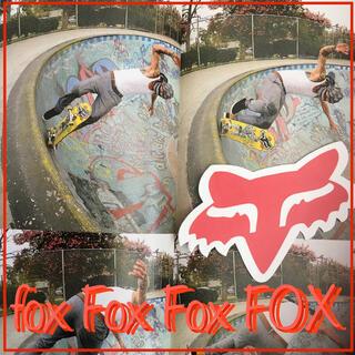 シュプリーム(Supreme)のFOXフォックスUS限定 カラー sml型抜き アイコン ステッカー red(スケートボード)