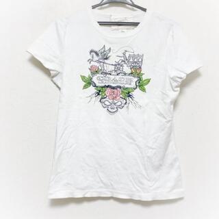 コーチ(COACH)のコーチ 半袖Tシャツ サイズL レディース -(Tシャツ(半袖/袖なし))