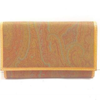 エトロ(ETRO)のエトロ 長財布 - カーキ×ブラウン×マルチ(財布)