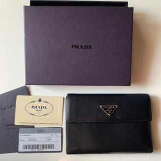 プラダ(PRADA)の最終値下げ!ギャランティ有 PRADA プラダ 三つ折り 財布 サフィアーノ(財布)