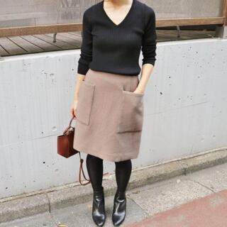 イエナ(IENA)のIENA イエナ ソフトモッサー台形スカート 36 (ミニスカート)