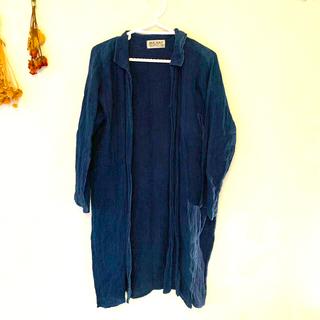 マライカ(MALAIKA)のMALAIKA  タイ藍染めロングシャツ(シャツ/ブラウス(長袖/七分))