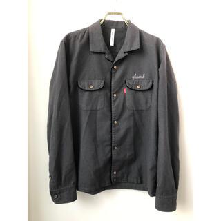 グラム(glamb)のglamb グラム オープンカラー 刺繍 フェルト 長袖 シャツ 2 ブラック(シャツ)