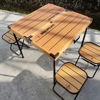 キャプテンスタッグ(CAPTAIN STAG)のCAPTAIN STAG キャプテンスタッグ 木製テーブルセット(テーブル/チェア)