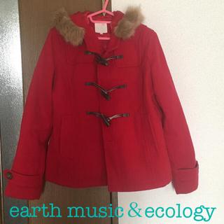 アースミュージックアンドエコロジー(earth music & ecology)のearth ダッフルコート〈レッド〉(ダッフルコート)