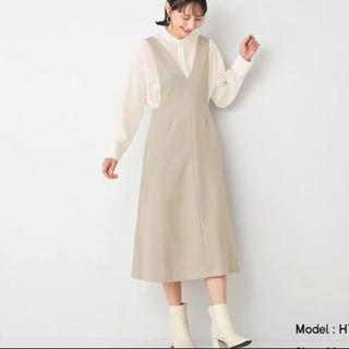 ジーユー(GU)のGU ディープVネックジャンパードレス ワンピース ワンピース(ロングワンピース/マキシワンピース)