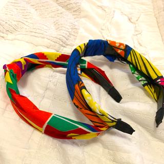 マライカ(MALAIKA)のMALAIKA アフリカカンガプリントカチューシャ2ヶセット(カチューシャ)