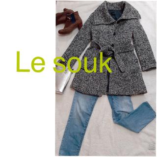 ルスーク(Le souk)の ⭐︎ルスーク Le souk  ツイード ロングコート グレー(ロングコート)