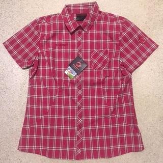 マムート(Mammut)の新品 レディースXL 半袖ボタンシャツ チェックシャツ(登山用品)