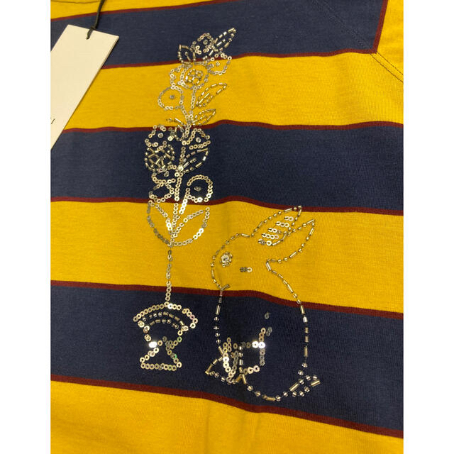 Gucci(グッチ)の【珍品】グッチ 5部丈シャツ ボーダー メンズのトップス(Tシャツ/カットソー(七分/長袖))の商品写真