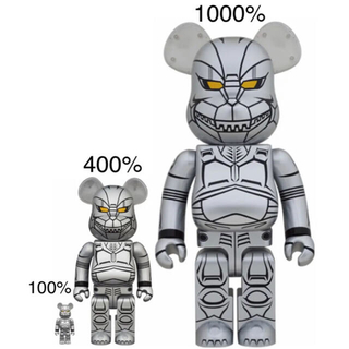 メディコムトイ(MEDICOM TOY)の新品未開封!メカゴジラ100%400%1000%セットベアブリック(キャラクターグッズ)