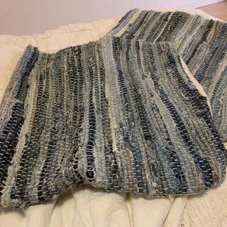 アクタス(ACTUS)のリサイクルデニムさぎ織りクッションカバー2ヶセット(クッションカバー)
