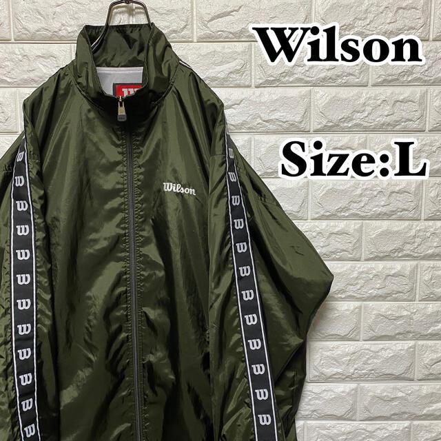 wilson(ウィルソン)の【Wilson】ワンポイント刺繍ロゴ*サイドライン*ナイロンジャケット メンズのジャケット/アウター(ナイロンジャケット)の商品写真