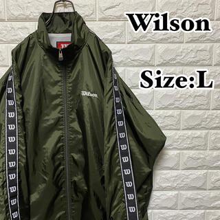ウィルソン(wilson)の【Wilson】ワンポイント刺繍ロゴ*サイドライン*ナイロンジャケット(ナイロンジャケット)