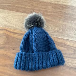 ランバンオンブルー(LANVIN en Bleu)のニット帽(ニット帽/ビーニー)
