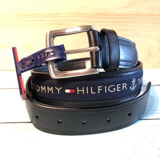 トミーヒルフィガー(TOMMY HILFIGER)の新品 トミーヒルフィガー ロゴ ベルト レザー ギフト レザーベルト ブラック(ベルト)
