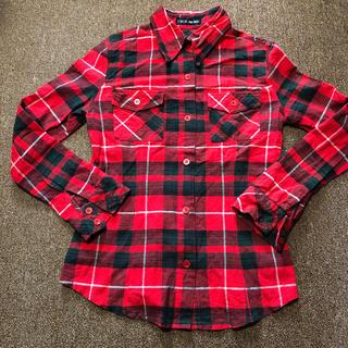 セシルマクビー(CECIL McBEE)のセシルマクビー チェックシャツ レッド(シャツ/ブラウス(長袖/七分))