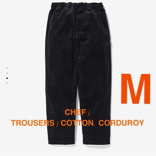 ダブルタップス(W)taps)のCHEF / TROUSERS / COTTON. CORDUROY 黒 M(ワークパンツ/カーゴパンツ)